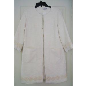 Jackets & Blazers - White long coat sz 6/ S